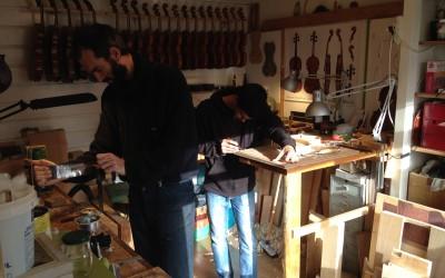 Bezoek vioolbouwer
